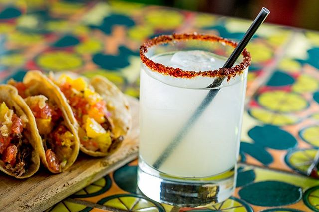 There's no better way to celebrate #cincodemayo than with a Salvation Margarita and a trio of tacos!!! And a rooftop view! 😋🌮