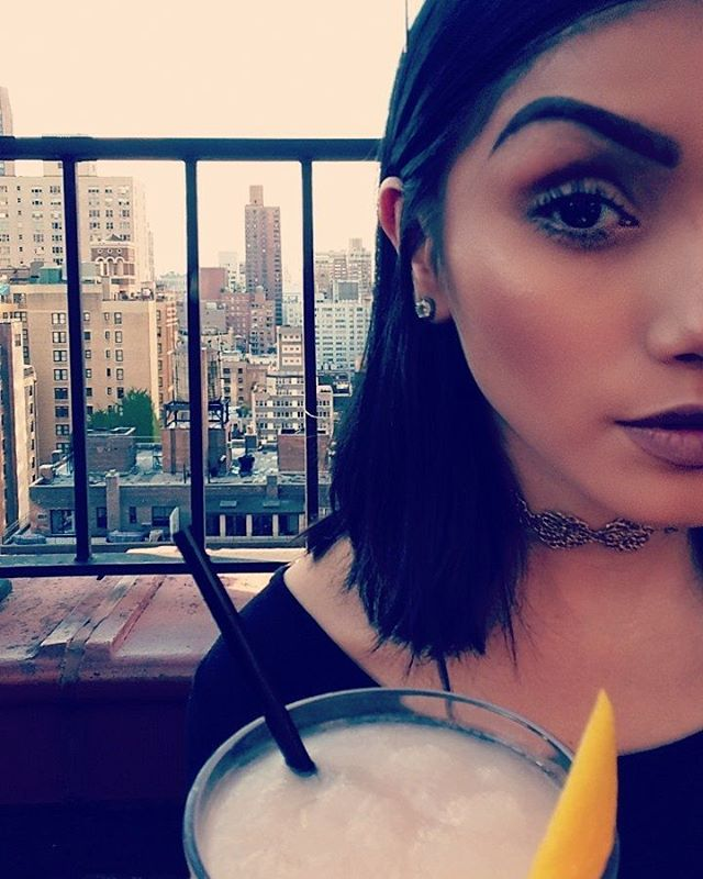 You + cocktail + this view = selfie perfection. 😘📸☉ #salvationtaco #rooftop #NYC #frozé