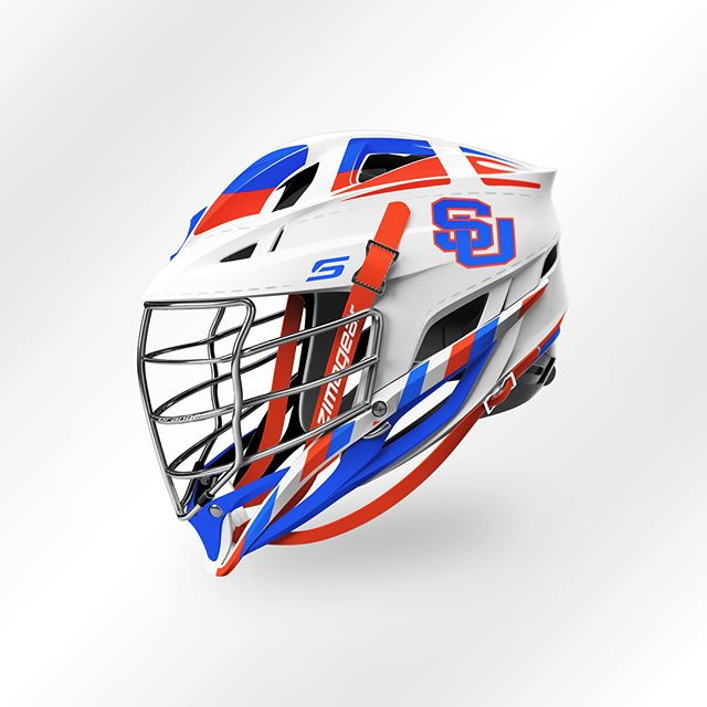 "The 2018 ""Throwbach"" Design and Decal kit for @cusemlax. Drawing inspiration from the original 1928 lacrosse helmet, the stitching features the traditional ""HHH"" Syracuse Lacrosse mantra. Designed in collaboration with @cascade_lacrosse , the pinnacle of performance & protection. #zimagear #cuselax #lacrossehelmets #collegelacrosse"