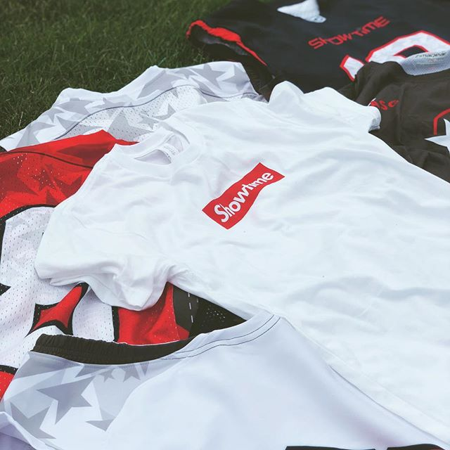 First Look at the 2018 Showtime All-Star uniforms featuring the Showtime Box Logo Tee. #ShowtimeLax #zimagear #lacrosse #laxgear