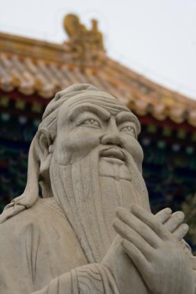 Confucius statue.