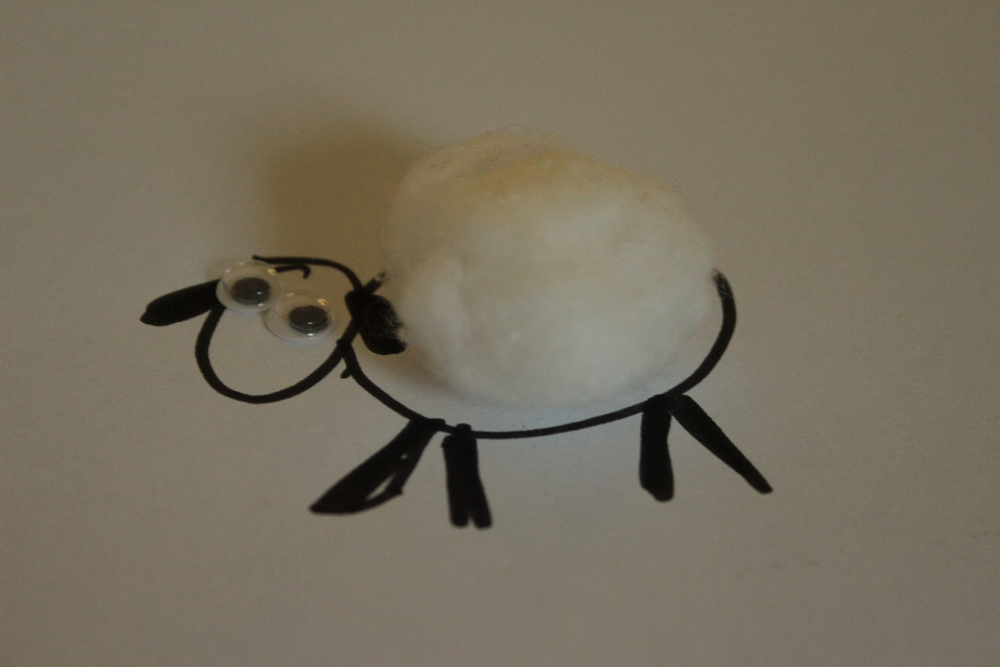 Completed sheep-simple yet adorable.