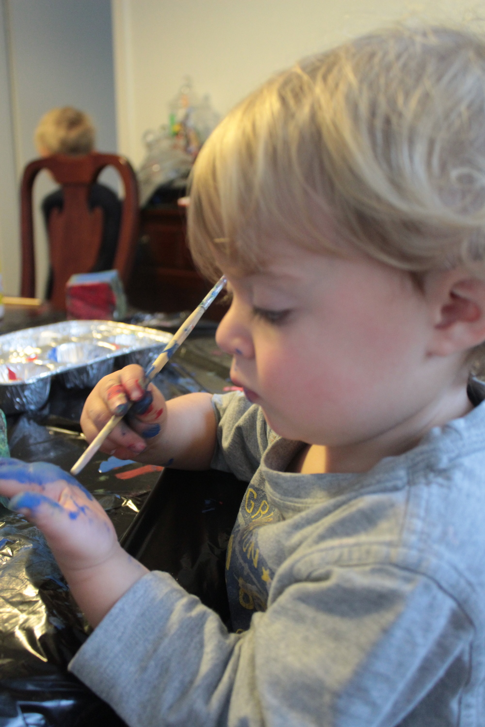 Baby painting.