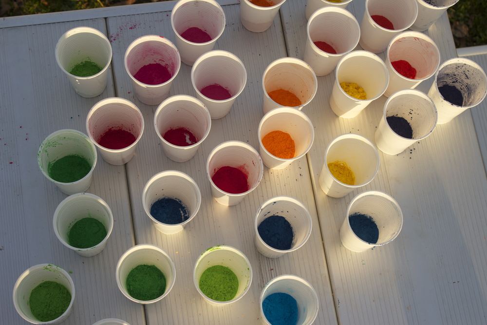 Cups ready to go before the fun.