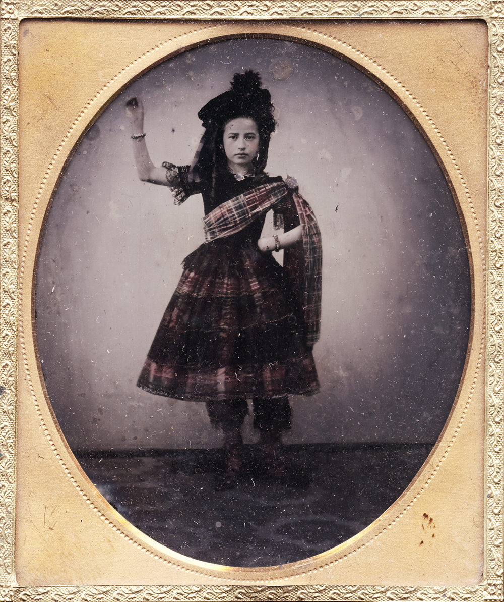 Portrait of a Scottish Girl in Dance Position
