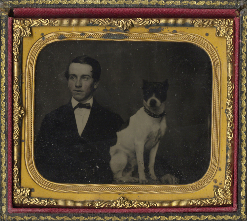 Portrait of a Young Man and his Seated Dog