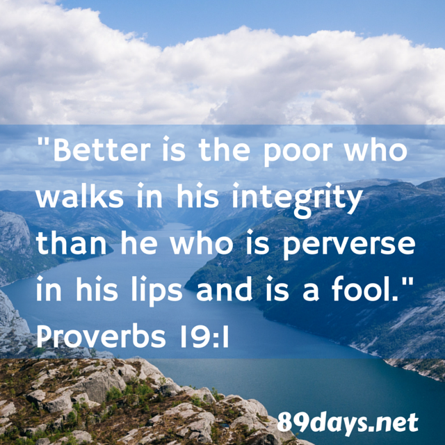 Proverbs 19 For The 19th Day Of January 2019