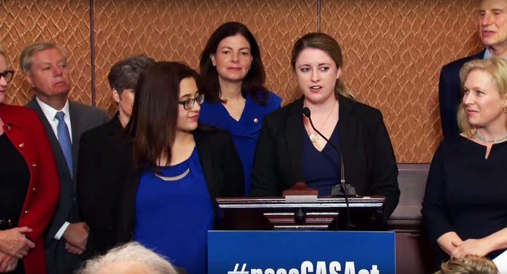 Click  here  to watch Annie and Andrea speak at the U.S. Senate