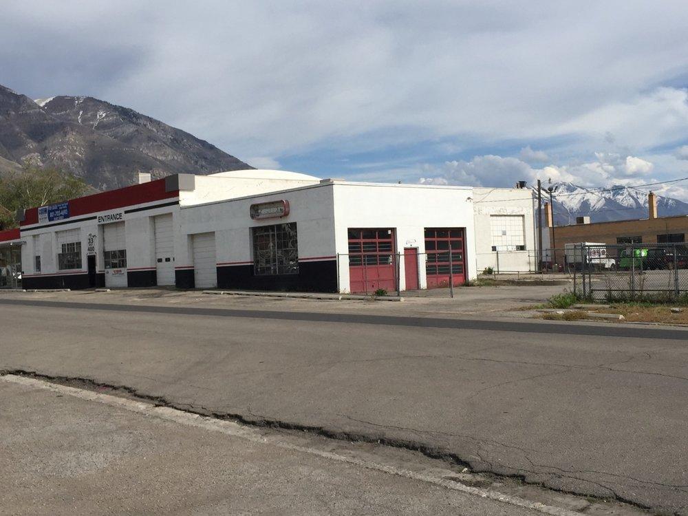 (the auto dealership building)