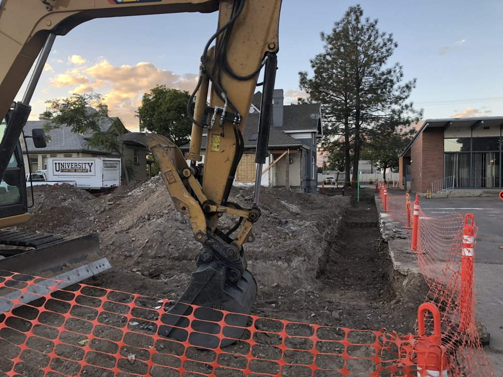 The week ended with the guys coming in on Saturday to dig the footings for the new building. I can't wait to see some new construction.