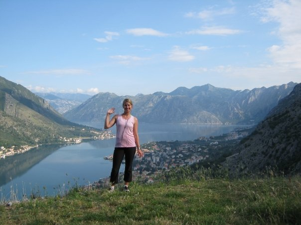 Kotor, Montenegro.  Putting the camera timer to use.
