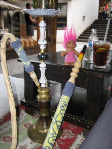 When in doubt, order a shisha.  Or hooka, depending on where you are travelling.  Nothing passes the time like a little apple tobacco.  Yes, I know it is killing me.  But once every five years, should be fine.  It's very mild and a cultural experience.
