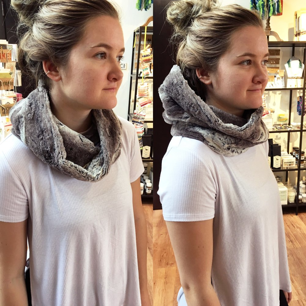 Dana Herbert faux fur snood | $36 | made in Portland