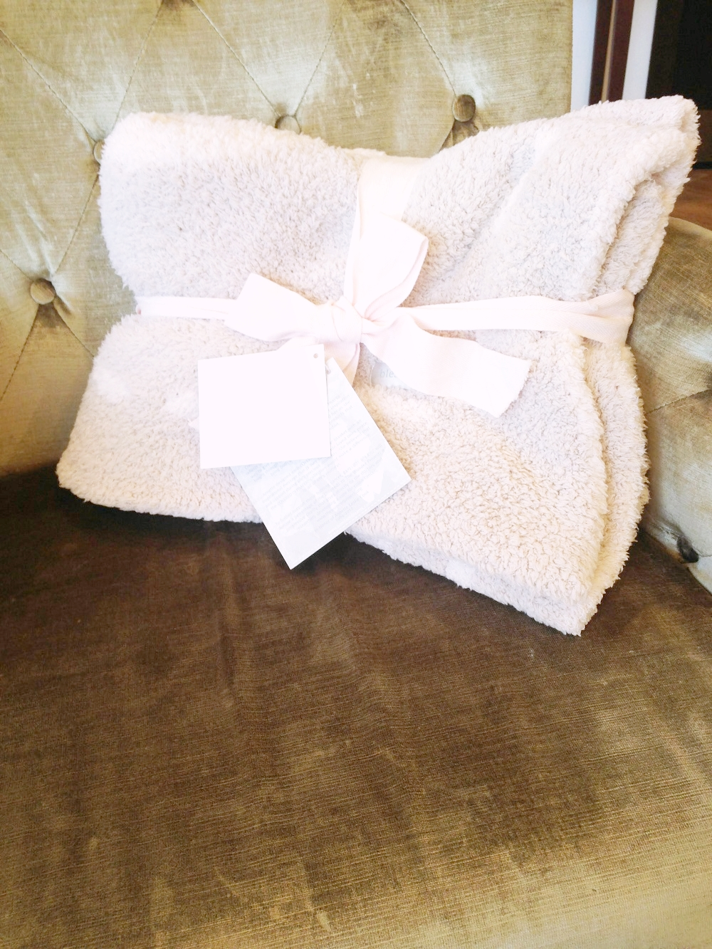 Covered In Prayer Dove Baby Blanket | $66