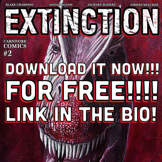 Happy Sunday, everyone!  if you haven't already heard, me and my friends just released a digital comic book about DINOSAURS!!! It would mean the world to us if you took a minute to check it out!  We're so excited to show you guys this that we've made It a FREE download AND you also get our first comic book, PLAGUE, with it too! That's 2 comics for the price of NONE!  Help us spread the word and tell your friends! We hope to make many more of these, but we need your help!  Download, Share, or Donate!  LINK IN THE BIO!  Thank you so so so much to everyone that has supported us and our endeavor, we are overwhelmed with your generosity!