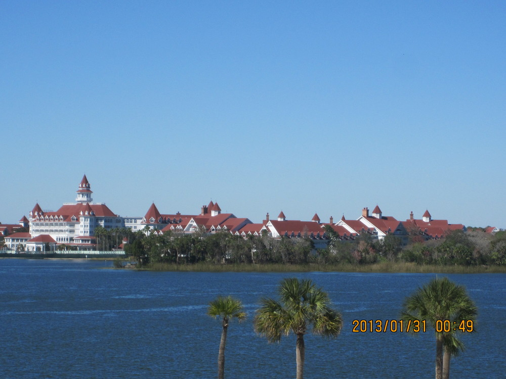 A view of the Grand Floridian from the monorail
