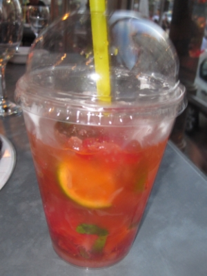 Don't I deserve It after the last two days?! OMG. It was soooo good. A strawberry mojito