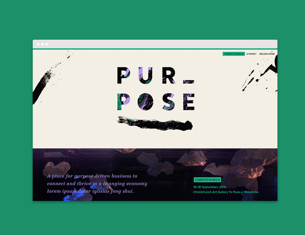 Purpose Festival 2017 – Interface Design