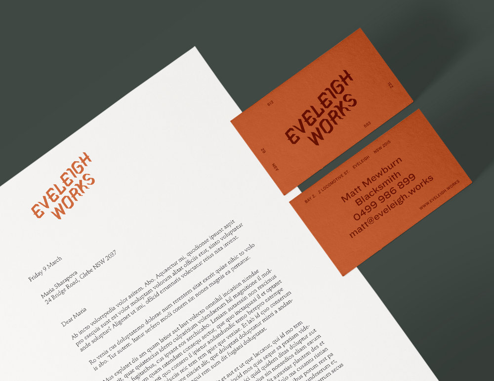 Eveleigh Works – Branding, UX & Interface Design