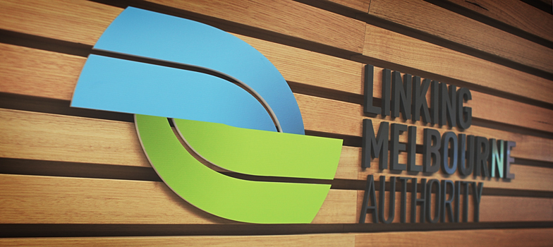 LINKING MELBOURNE AUTHORITY BRAND LOGO DESIGNED BY MOSS GROUP