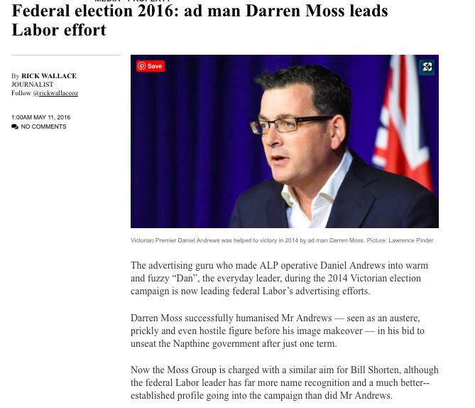 The Australian, May 11, 2016
