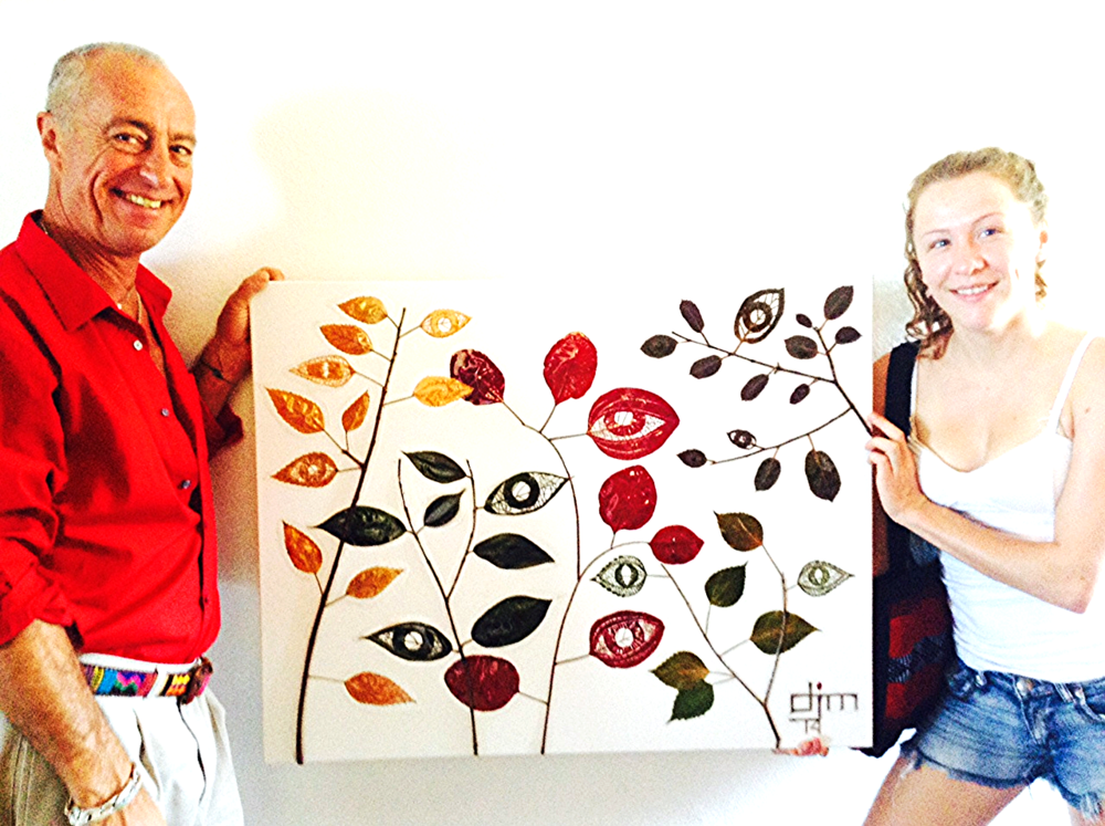 "April 10, 2014 in Puerto vallarta, MX-- ""Arboles Vigilantes"", the artist's latest commission piece, being delivered to the home of a collector who discovered Ms. Marshall's art at her February show in the city's beautiful downtown."