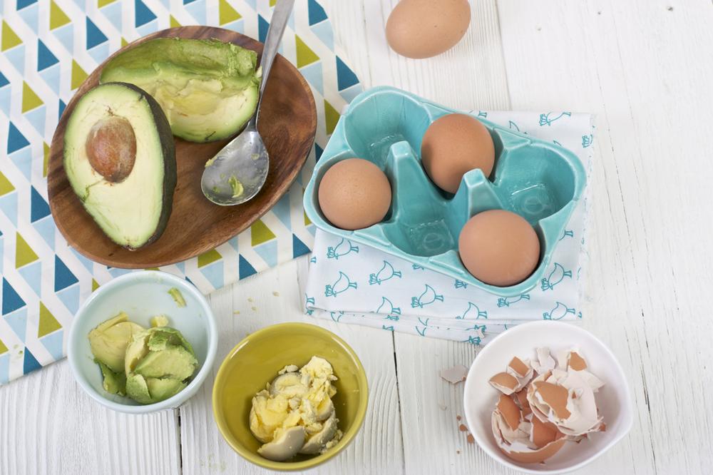 Egg Yolk Avocado Baby Food Puree
