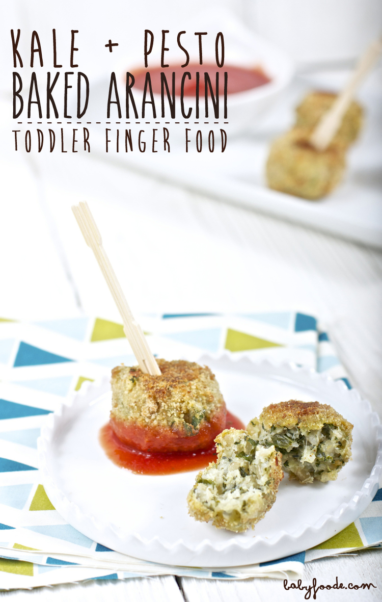 Kale pesto baked arancini baby foode adventurous recipes for kale pesto baked arancini forumfinder Images