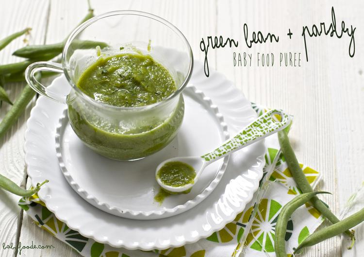 Green beans parsley baby foode adventurous recipes for babies green beans parsley baby food puree forumfinder Gallery