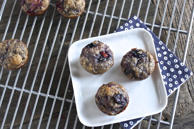 Peach + Blueberry + Vanilla Bean Mini Muffin
