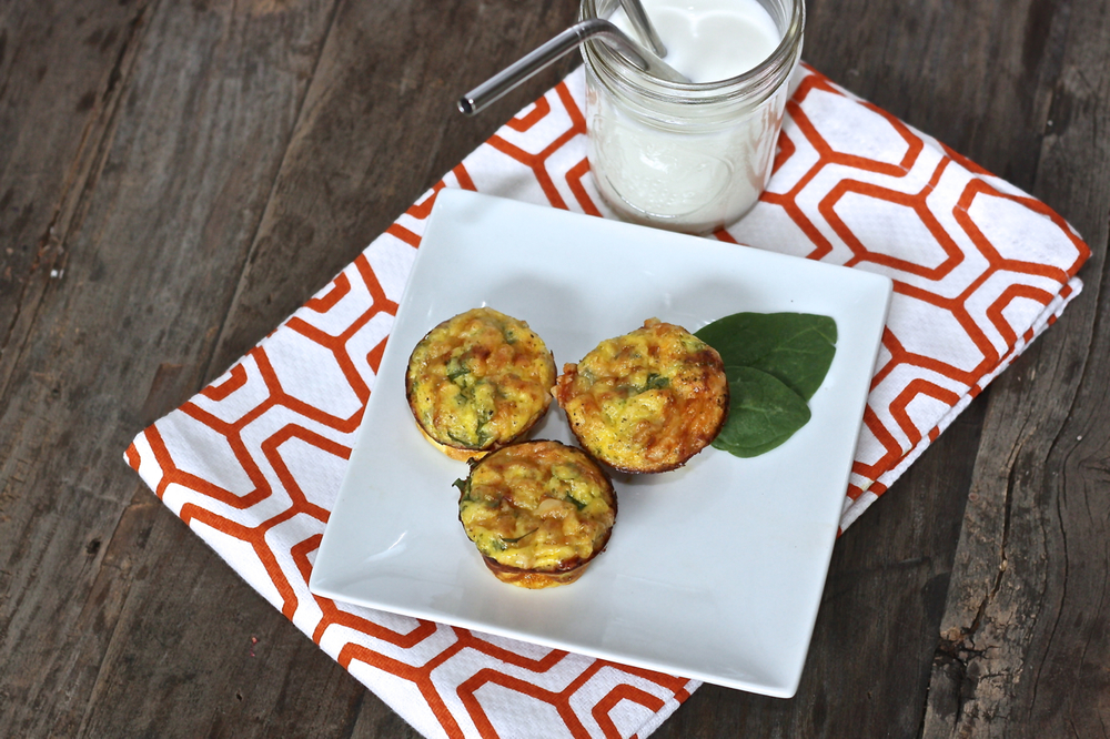 Leek + Asparagus + Spinach Mini Quiche