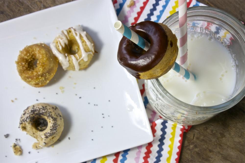 Baked Mini Donut - 4 Ways