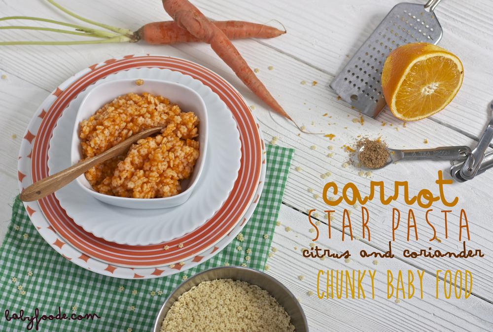 Carrot + Star Pasta + Citrus + Coriander