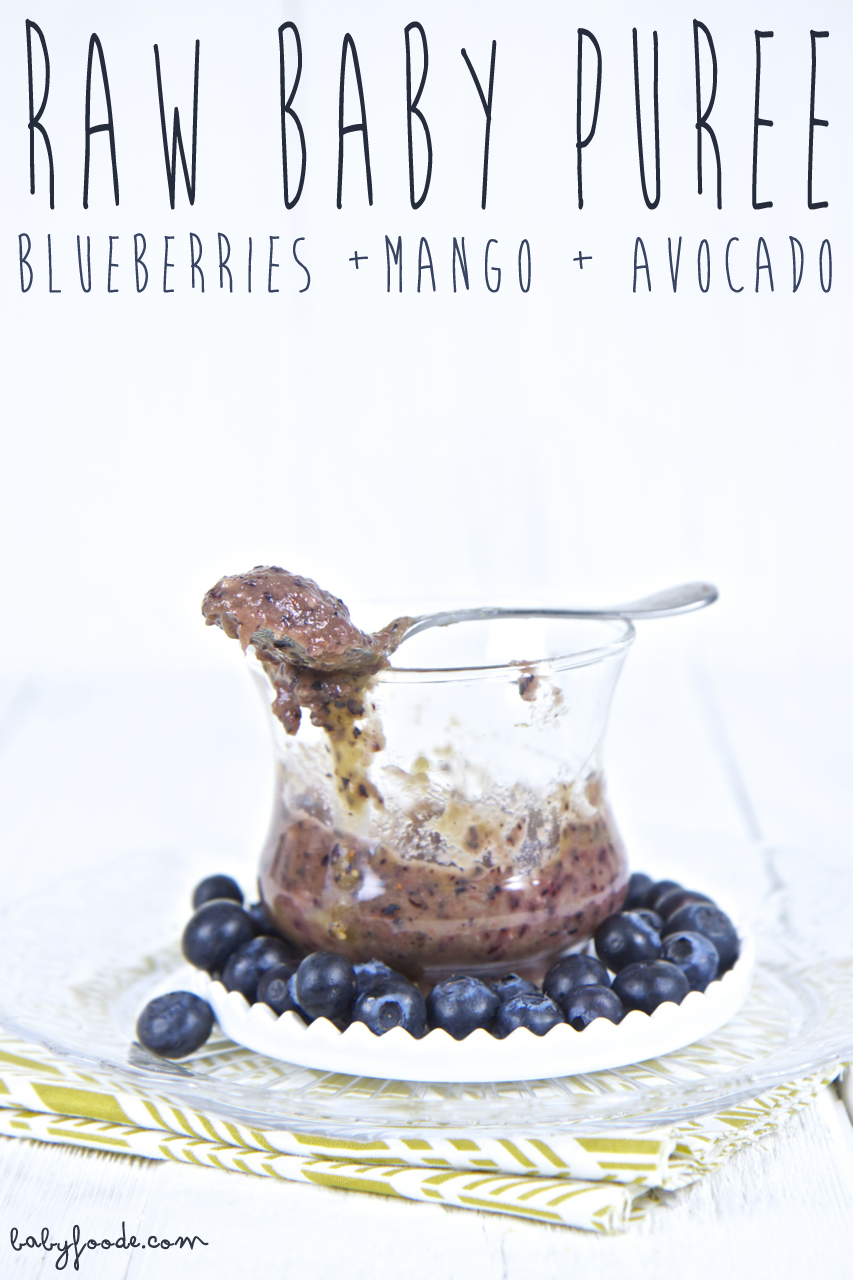 Raw Puree - Blueberries + Mango + Avocado