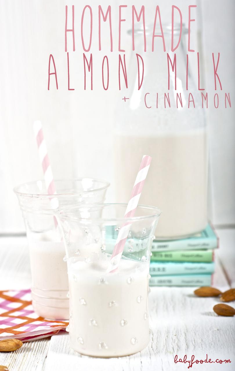 Homemade Almond Milk + Cinnamon