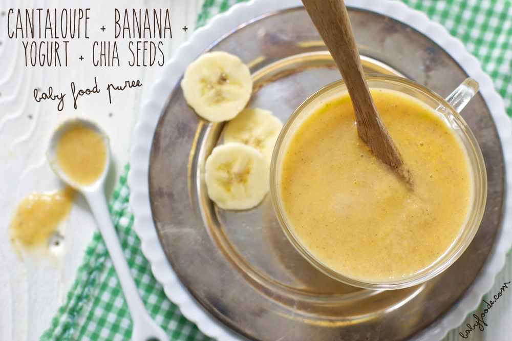 Cantaloupe + Banana + Yogurt + Chia Seeds