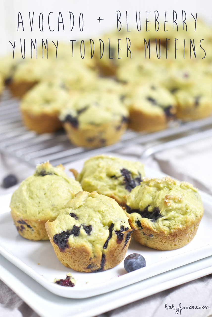Avocado + Blueberry Yummy Toddler Mini Muffins
