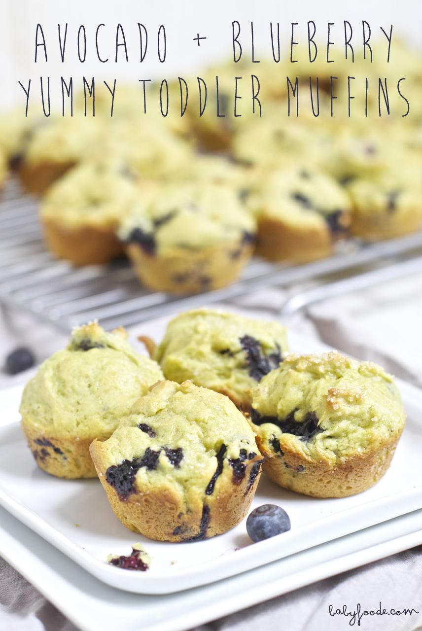 Avocado + Blueberry Yummy Toddler Muffins