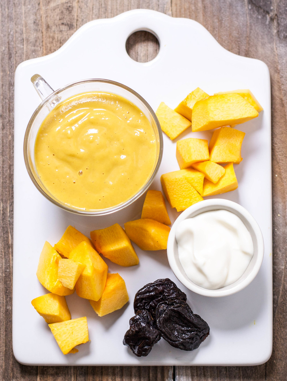 Pumpkin Yogurt Prunes Baby Foode Adventurous
