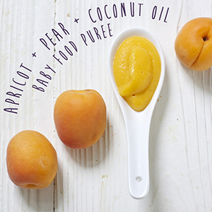 Apricot + Pear + Coconut Oil Puree