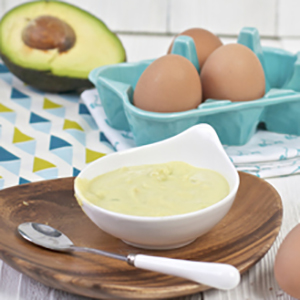 Egg Yolk + Avocado Puree
