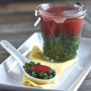 Strawberry + Spinach + Chives + Barley