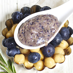 Blueberry + Chickpea + Rosemary Chunky Puree