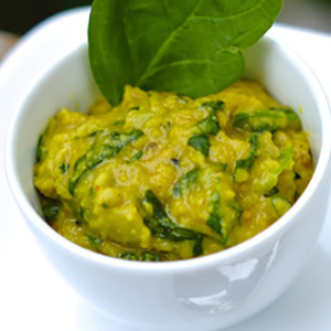 Indian Yellow Dal + Spinach Puree