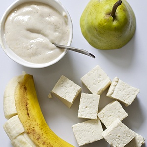 Banana + Tofu + Pear Puree