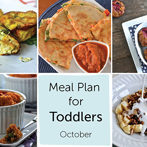 Meal Plan for Toddlers - October