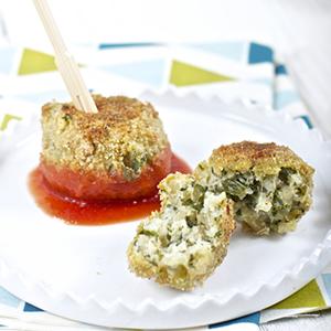 Kale + Pesto Baked Arancini