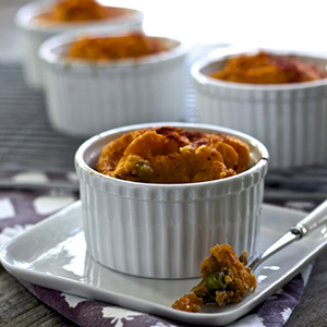 Turkey + Sweet Potato Mini Shepard's Pie