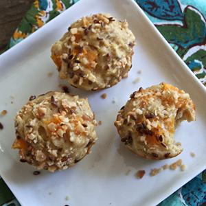 Apricot + Coconut + Nutmeg + Flax Seed Mini Muffin