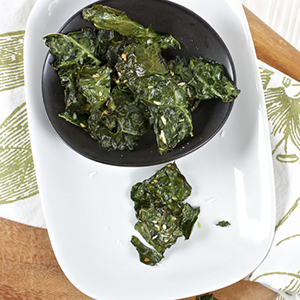 Kale Chips + Coconut